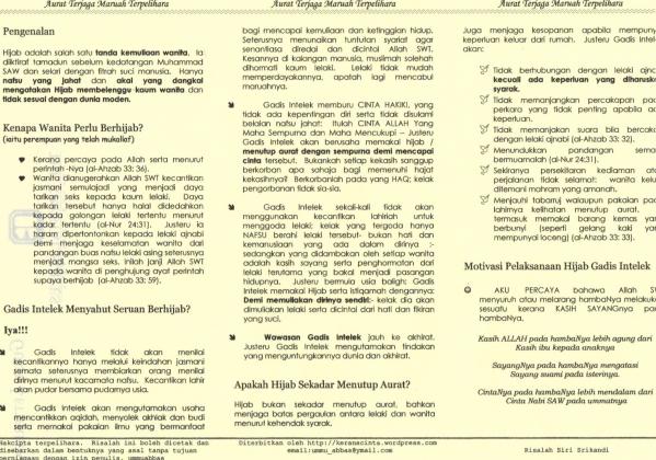 Halaman 2 risalah yang dicetak di atas kertas warna.